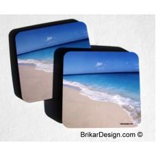 Sous-verre carré plage