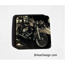 Sous- verre carré moto