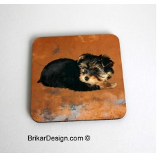 Sous-verre carré Yorkshire brun