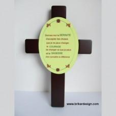 Croix avec plaque