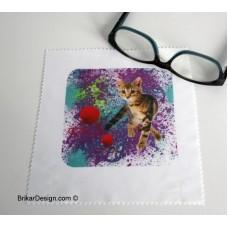 Lingette pour lunette chat balle de laine