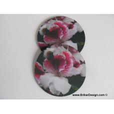 Sous-verre fleur rose