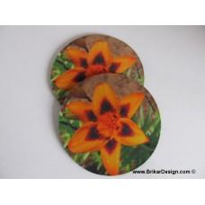 Sous-verre fleur orange